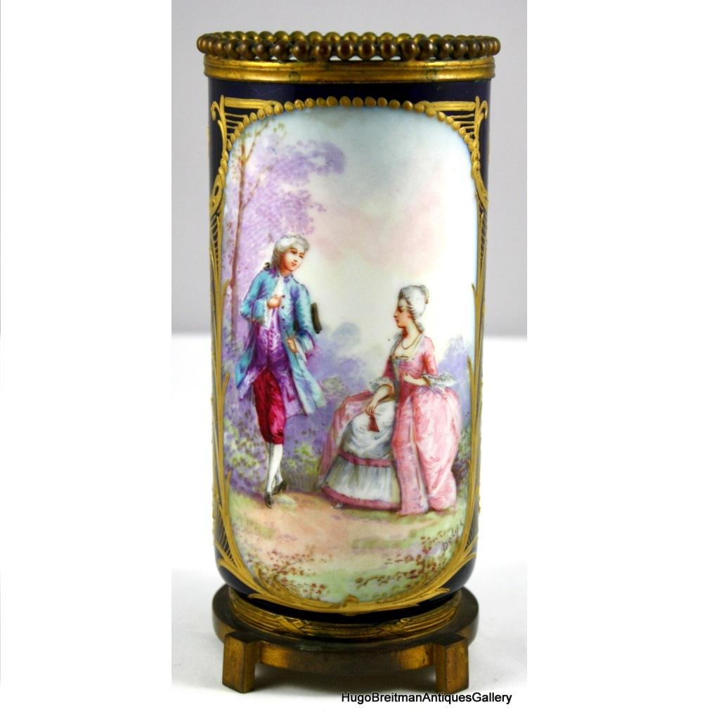 Sevres Style Porcelain Vase