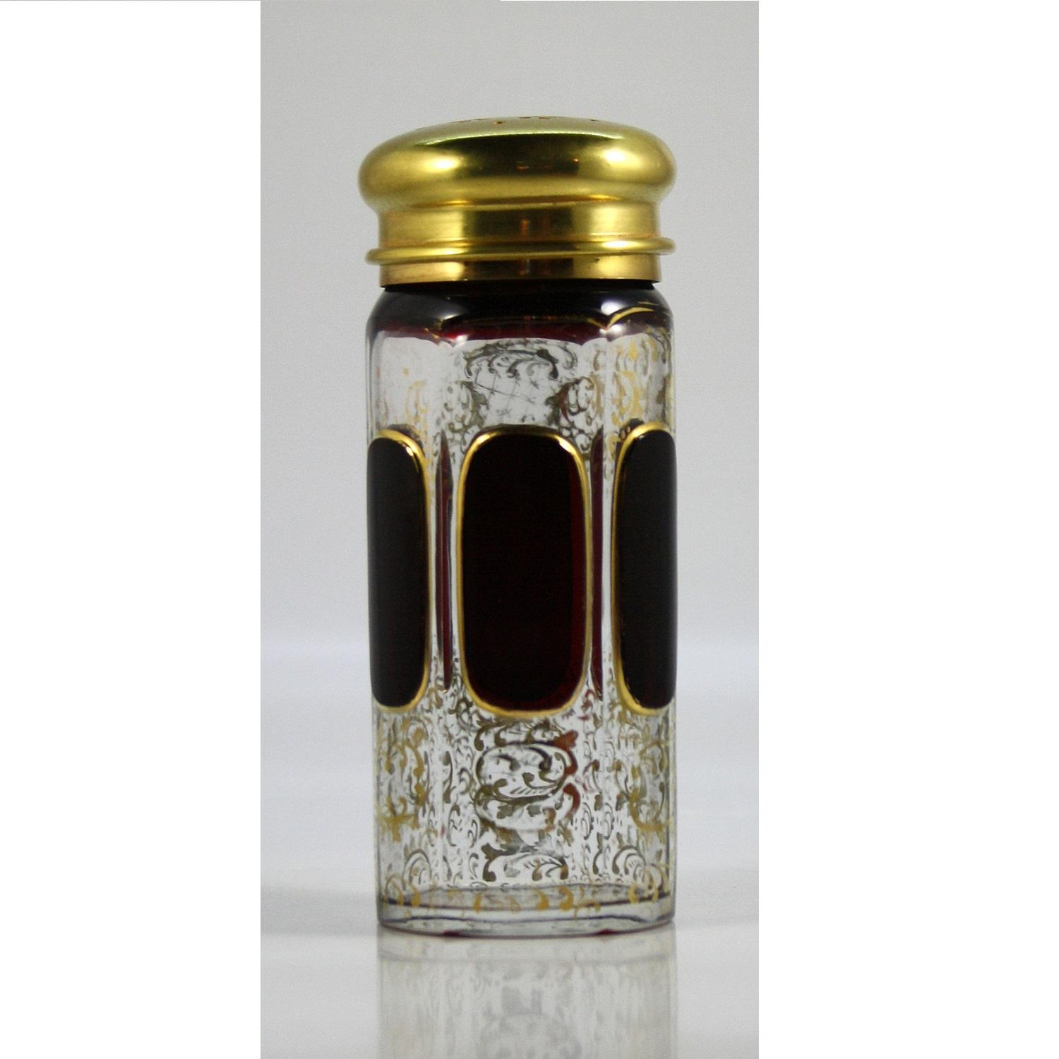Moser Ruby Cabouchon Sugar Container