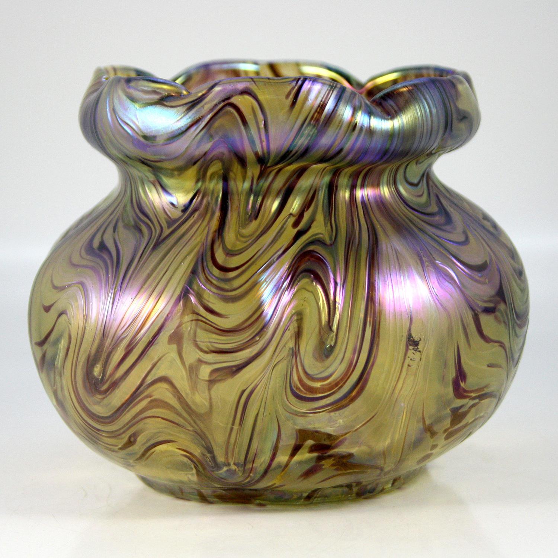 Art Nouveau Iridescent Vase