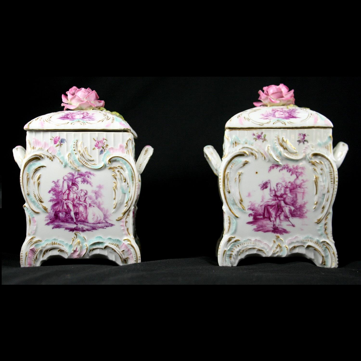 Pair of KPM Porcelain Containers