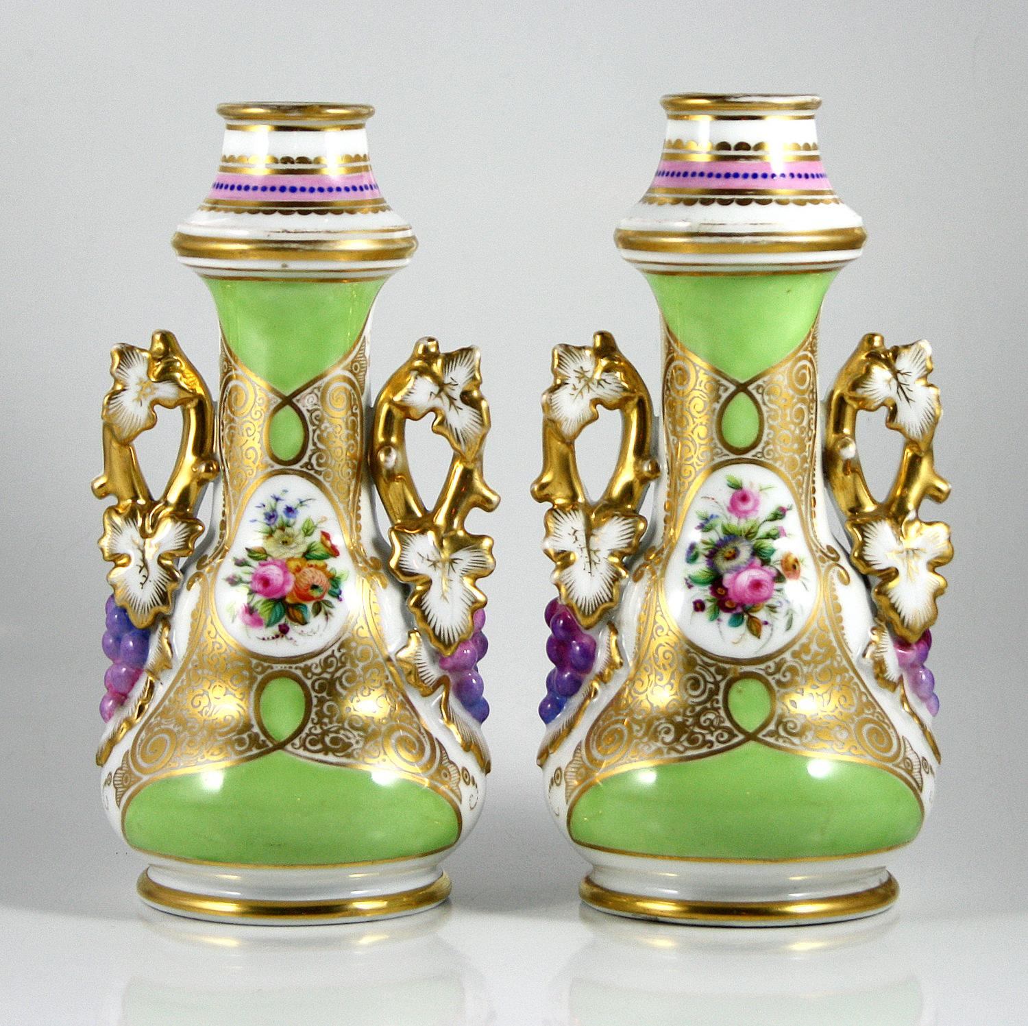 Pair of Isabelline Vases