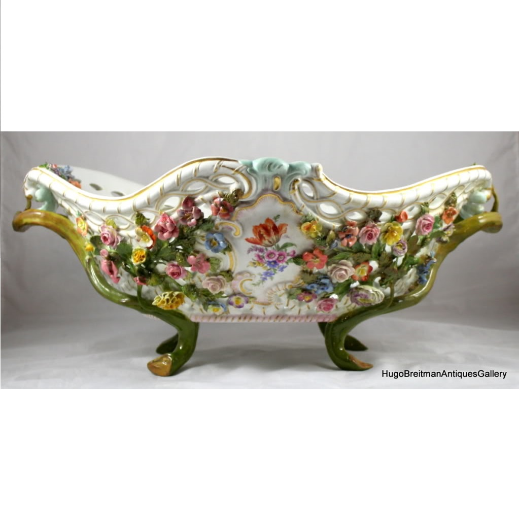Meissen reticulated porcelain basket