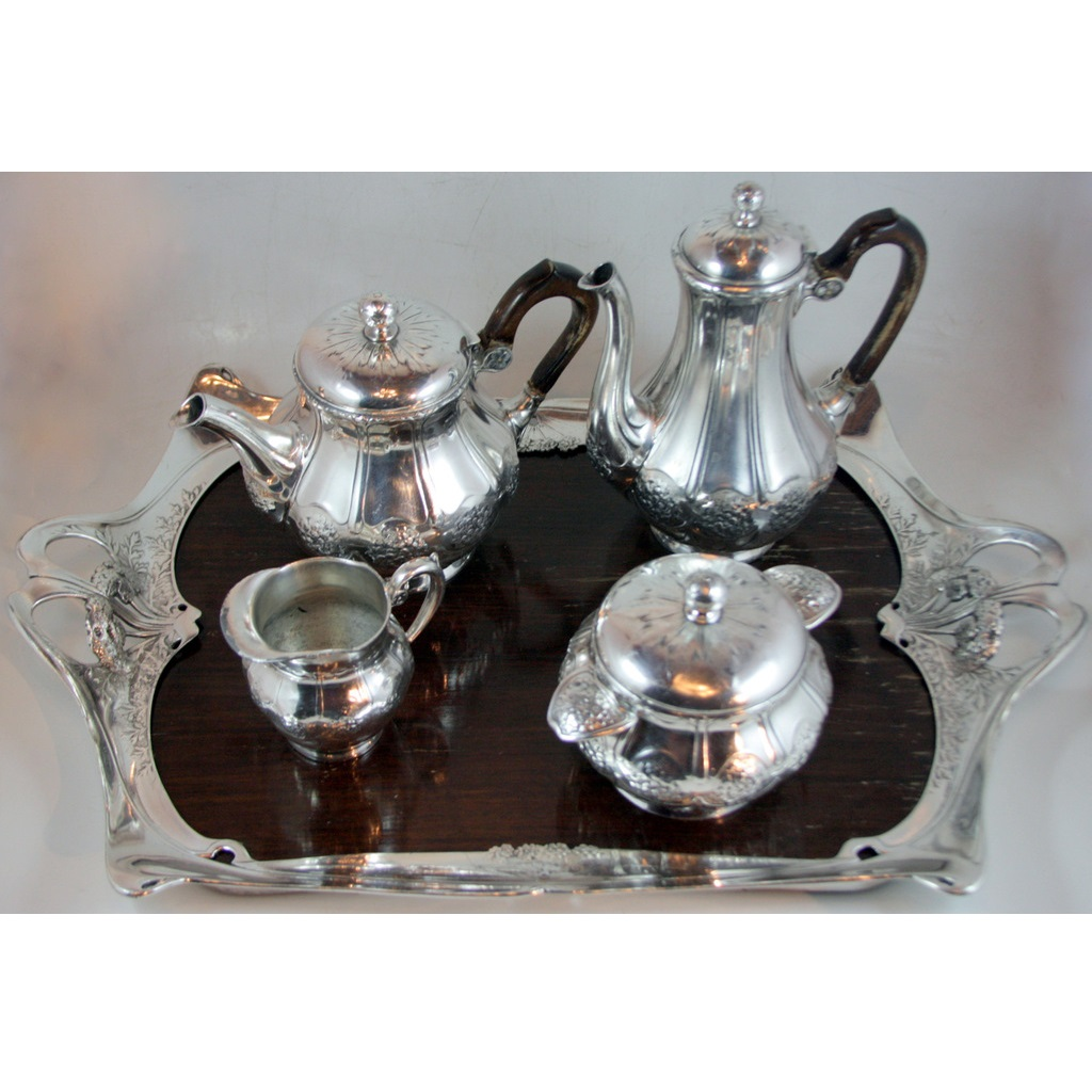 Gallia Silverplated Art Nouveau Tea Set