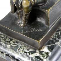 "Juan Clara Bronze ""Devant Le Guignol"""