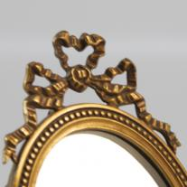 Louis XVI-Style French Bronze Double Mirror with Original Patina