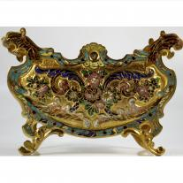 Champleve enamel and Gilt-Bronze Mounted Jardinière