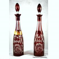 Pair of Bohemian Bottle