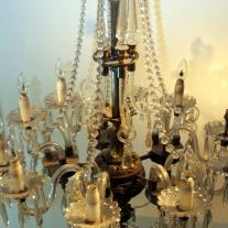 BRONZE FIVE ARMS AND TEN LIGHTS CHANDELIER