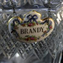 Glass Bottle of Brandy