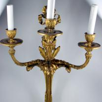 LOUIS XVI-STYLE PAIR OF BRONZE SCONCES