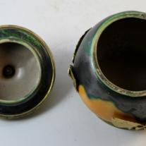 DAGE-Signed Bronze-Mounted Ceramic Bowl
