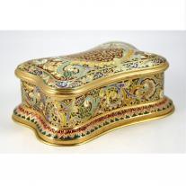 Gilt Bronze Champleve Enamel Jewelry Box