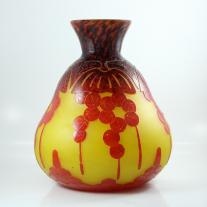 Cameo Glass Vase Signed Le Verre