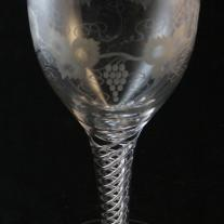 Pair of Oversized Bohemian Crystal Goblets