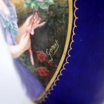 Enameled Urn Signed Gamet