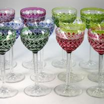 Set of Twelve Val Saint Lambert Goblets