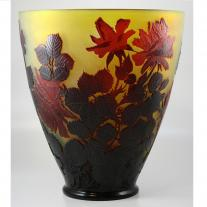 Art Nouveau Galle Cameo Glass Vase