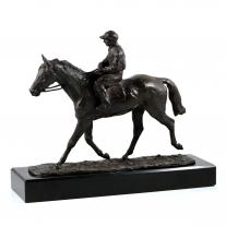 Rene Paris -  Jockey Bronze Figure