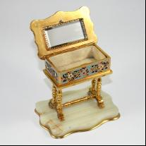 Champleve Enamel Jewelry Box