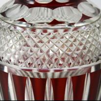 Val Saint Lambert Cut Crystal Vase