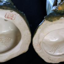 Pair of Faiance Amphora Figures Representing a Couple
