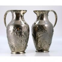 Pair of Art Nouveau WMF Pitchers
