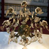 BRONZE EIGHT-ARMS CHANDELIER