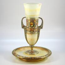 Champleve Enamel Gilt bronze Mounted  Center Piece