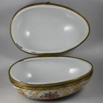 Sevres Style Egg Shaped Porcelain Box