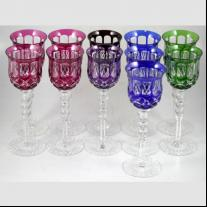 Bohemian Crystal Set of Goblets (11 p.)