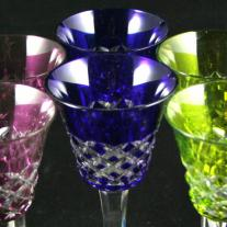 Baccarat Set of Cut Crystal Goblets (6 p.) - Burgos Pattern