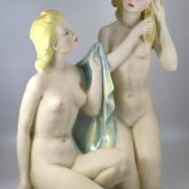 "CIA Manna Art Deco ""Vanity"" Ceramic Group"