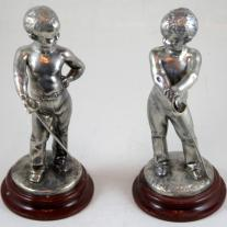 Louis Kley pair of Silverplated Figures