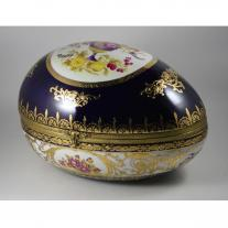 Sevres Style Egg Shaped Porcelain Box