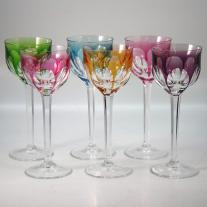 Set of twelve Moser Goblets