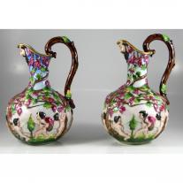 Pair of Capodimonte Jars