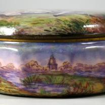 "Enamel Box Signed ""Gamet"""