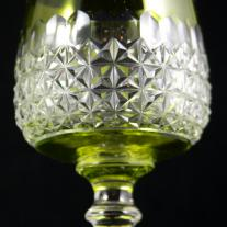 Set of French Cut Crystal Goblets