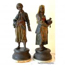Pair of Spelter Figures